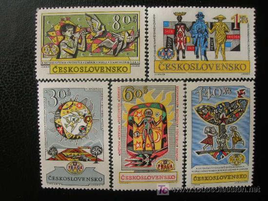 CHECOSLOVAQUIA 1962 IVERT 1230/4 *** EXPOSICIÓN FILATELICA INTERNACIONAL - PRAGA - 62 (Sellos - Extranjero - Europa - Otros paises)
