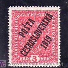 Sellos: CHECOSLOVAQUIA 59A CON CHARNELA, SOBRECARGADO, . Lote 10462408