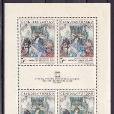 Sellos: CHECOSLOVAQUIA 1653 EN MINIPLIEGO SIN CHARNELA, PRAGA 1968 EXP. FIL. INTERNACIONAL, DIA DE LA F.I.P.. Lote 10462425