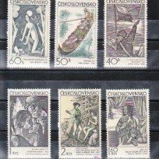 Sellos: CHECOSLOVAQUIA 1825/30 SIN CHARNELA, PINTURA, ARTE GRAFICOS, . Lote 9353537