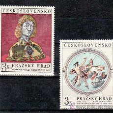 Sellos: CHECOSLOVAQUIA 1787/8 SIN CHARNELA, ARTE, TESOROS DEL CASTILLO DE PRAGA, . Lote 11092206