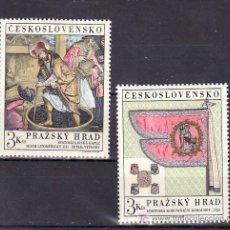 Sellos: CHECOSLOVAQUIA 1723/4 SIN CHARNELA, PINTURA, BANDERIN, TESOROS DEL CASTILLO DE PRAGA, . Lote 11207009