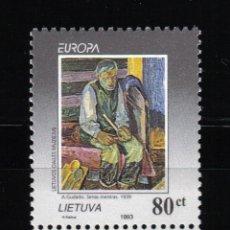 Sellos: LITUANIA 1993 EUROPA CEPT. Lote 13593396