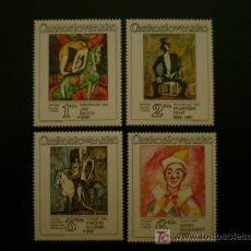 Sellos: CHECOSLOVAQUIA 1986 IVERT 2697/2700 *** CUADROS DE ARTISTAS CHECOS - EL CIRCO - PINTURA. Lote 19231643