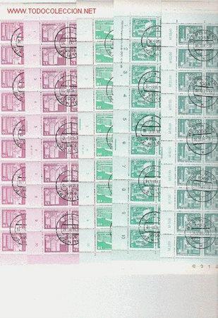 Sellos: OPORTUNIDAD UNICA RARISIMA SERIE BASICA DE ALEMANIA DEMOCRATICA MATASELLO EN PLIEGOS DE 100 SELLOS - Foto 4 - 27236184