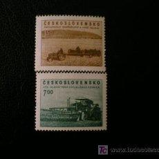 Sellos: CHECOSLOVAQUIA 1953 IVERT 710/1 *** EN FAVOR DE LA AGRICULTURA. Lote 10152560