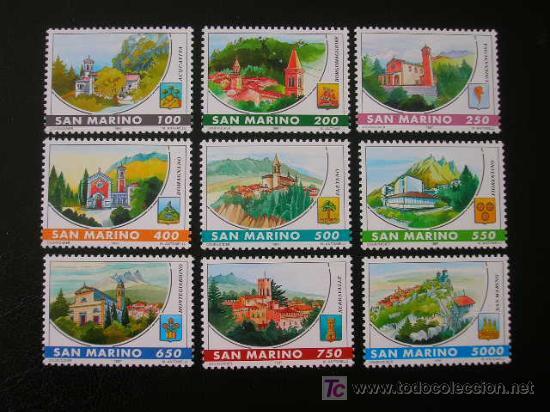 SAN MARINO 1997 IVERT 1499/1507 *** CASTILLOS DE SAN MARINO - MONUMENTOS (Sellos - Extranjero - Europa - Otros paises)