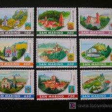 Sellos: SAN MARINO 1997 IVERT 1499/1507 *** CASTILLOS DE SAN MARINO - MONUMENTOS. Lote 22030067