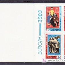 Sellos: GEORGIA 328/9 CARNET SIN CHARNELA, TEMA EUROPA 2003, EL ARTE DEL CARTEL, . Lote 11323789
