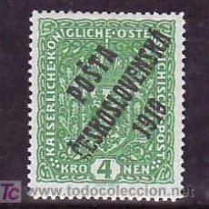 Sellos: CHECOSLOVAQUIA 60 CON CHARNELA, SOBRECARGADO, . Lote 11469346