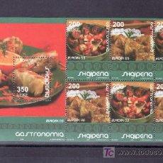 Sellos: ALBANIA AÑO 2005 HB SIN CHARNELA, TEMA EUROPA 2005, GASTRONOMIA, . Lote 11469495