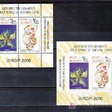 Sellos: CHIPRE TURCO HB AÑO 2006 DENTADA Y SIN DENTAR SIN CHARNELA, TEMA EUROPA 2006, INTEGRACION. Lote 10869058