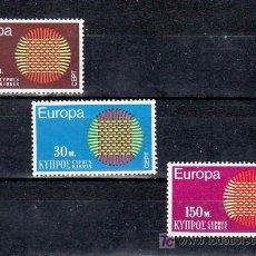 Sellos: CHIPRE 324/6 SIN CHARNELA, TEMA EUROPA 1970. Lote 10881898