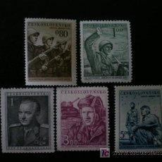 Sellos: CHECOSLOVAQUIA 1951 IVERT 600/4 *** DÍA DE LA ARMADA - SOLDADOS. Lote 11275915