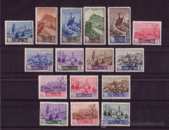 SAN MARINO 320/33*** - AÑO 1949 - TURISMO - PAISAJES (Sellos - Extranjero - Europa - Otros paises)
