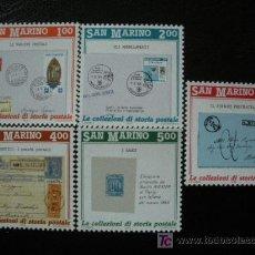 Sellos: SAN MARINO 1989 IVERT 1210/4*** PROMOCIÓN DE LA FILATÉLIA (II). Lote 222520702