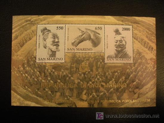 SAN MARINO HB 1986 IVERT 13 *** 15º ANIVERSARIO RELACIONES DIPLOMÁTICAS SAN MARINO-CHINA (Sellos - Extranjero - Europa - Otros paises)