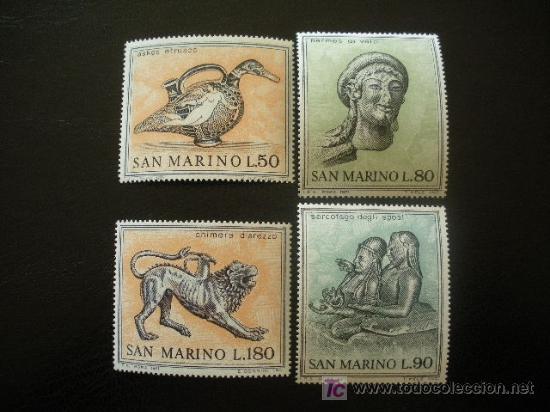 SAN MARINO 1971 IVERT 787/90 *** ARTE ETRUSCO (I) (Sellos - Extranjero - Europa - Otros paises)
