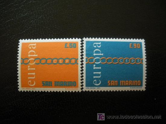 SAN MARINO 1971 IVERT 782/3 *** EUROPA (Sellos - Extranjero - Europa - Otros paises)