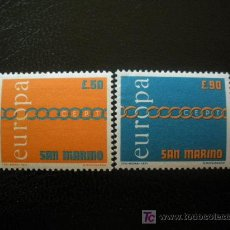 Sellos: SAN MARINO 1971 IVERT 782/3 *** EUROPA. Lote 35000009