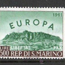 Sellos: SAN MARINO AÑO 1961 YV 523*** EUROPA-CEPT - VISTAS Y PAISAJES - MONTE TITAN - TURISMO. Lote 26276153