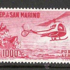 Sellos: SAN MARINO AÑO 1961 YV A127*** CORREO AÉREO - HELICÓPTERO - AVIONES - TRANSPORTES. Lote 26389797