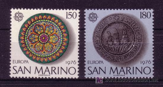 SAN MARINO.- YVERT 923/24 TEMA EUROPA DE 1976 TOTALMENTE NUEVA (Sellos - Extranjero - Europa - Otros paises)