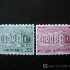 Sellos: SAN MARINO 1969 IVERT 732/3 *** EUROPA. Lote 15331691