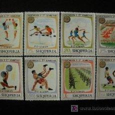 Sellos: ALBANIA 1974 IVERT 1545/52 *** SPARTAKIADAS NACIONALES - DEPORTES. Lote 35437528
