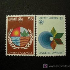 Sellos: NACIONES UNIDAS VIENA 1982 IVERT 24/5 *** MEDIOAMBIENTE HUMANO. Lote 18059517