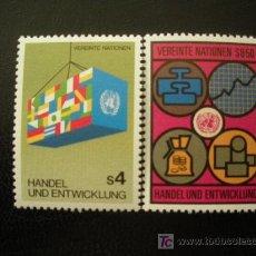 Sellos: NACIONES UNIDAS VIENA 1983 IVERT 34/5 *** COMERCIO Y DESARROLLO. Lote 18059716