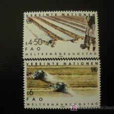 Sellos: NACIONES UNIDAS VIENA 1984 IVERT 39/40 *** DÍA MUNDIAL DE LA ALIMENTACIÓN . Lote 18059833