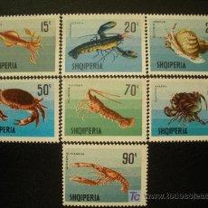 Sellos: ALBANIA 1968 IVERT 1118/24 *** MOLUSCOS Y CRUSTACEOS - FAUNA MARINA. Lote 19623340