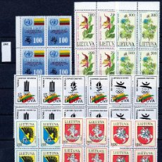 Sellos: LITUANIA AÑO 1992 YV 426/41*** COMPLETO EN BL4. Lote 27458166
