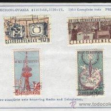 Sellos: SELLOS CHECOSLOVAQUIA 1963 2 SERIES COMPLETAS. Lote 27425159