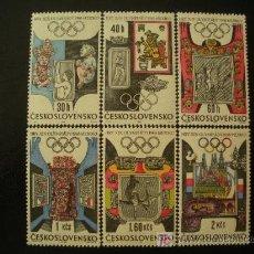 Sellos: CHECOSLOVAQUIA 1968 IVERT 1631/6 *** JUEGOS OLIMPICOS DE MEXICO - DEPORTES. Lote 21194147