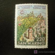 Sellos: SAN MARINO 1980 IVERT 1019 *** CONFERENCIA MUNDIAL DEL TURISMO - PAISAJES. Lote 20326456