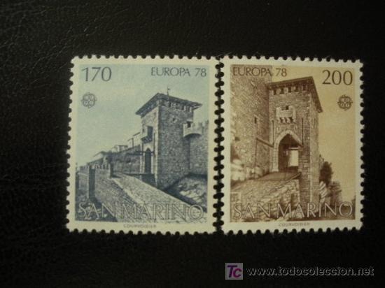 SAN MARINO 1978 IVERT 955/6 *** EUROPA - MONUMENTOS (Sellos - Extranjero - Europa - Otros paises)