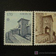Sellos: SAN MARINO 1978 IVERT 955/6 *** EUROPA - MONUMENTOS. Lote 34999783