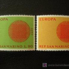 Sellos: SAN MARINO 1970 IVERT 762/3 *** EUROPA. Lote 20327085
