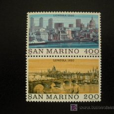 Sellos: SAN MARINO 1980 IVERT 1009/10 *** GRANDES CIUDADES DEL MUNDO - LONDRES. Lote 20830602
