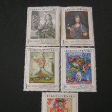 Sellos: CHECOSLOVAQUIA 1966 IVERT 1530/4 *** ARTE - CUADROS DE GALERÍAS NACIONALES - PINTURA. Lote 22668144
