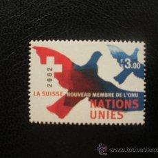Sellos: NACIONES UNIDAS GINEBRA 2002 IVERT 470 *** SUIZA NUEVO MIEMBRO DE LA ONU. Lote 22745131