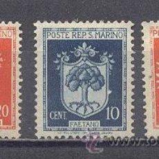 Sellos: SAN MARINO, 1945-46, YVERT TELLIER 259,260,261. Lote 22858439