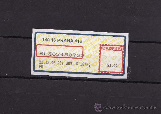 ATM REPUBLICA CHECA 2005 USADO (Sellos - Extranjero - Europa - Otros paises)