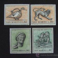 Sellos: SAN MARINO Nº YVERT 787/0*** AÑO 1971 ARTE ETRUSCO (I). Lote 23047066