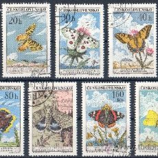 Sellos: CHECOSLOVAQUIA AÑO 1961 YV 1184/92*º MARIPOSAS - INSECTOS - FAUNA - NATURALEZA. Lote 26416564