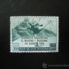 Sellos: SAN MARINO 1953 IVERT 373 * JORNADA FILATELICA EN SAN MARINO - DEPORTES. Lote 23825187