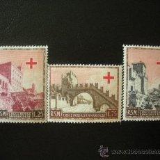 Sellos: SAN MARINO 1951 IVERT 343/5 * FUNDACIÓN DE LA CRUZ ROJA SAN MARINENSE - MONUMENTOS. Lote 23851876