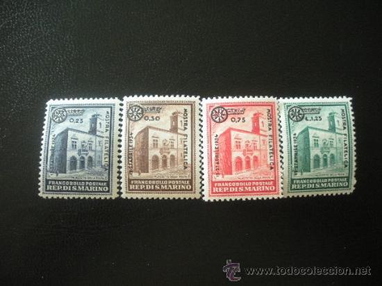 SAN MARINO 1934 IVERT 180/3 ** EXPOSICIÓN FILATELICA DE MILAN - MONUMENTOS (Sellos - Extranjero - Europa - Otros paises)